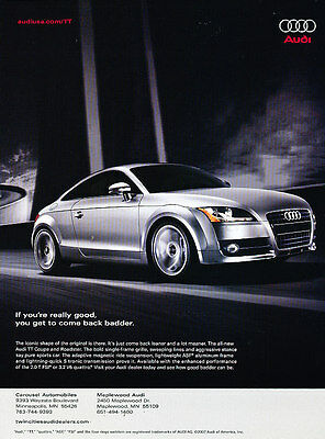 2007 Audi TT Coupe - back badder -  Vintage Advertisement Ad A36-B