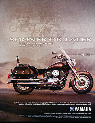 2003 Yamaha V Star - motorcycle sooner -  Classic Advertisement Ad A39-B
