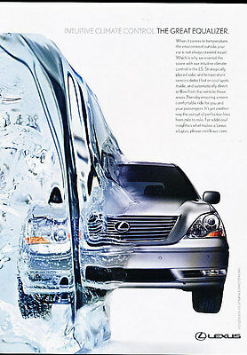 2006 Lexus LS430 - great equalizer -  Classic Advertisement Ad A43-B