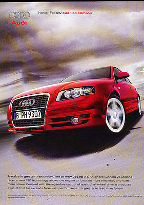 2006 Audi A4 - power and torque  -  Classic Advertisement Ad A43-B