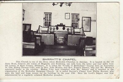 DE   KENT COUNTY   Methodist Church / BARRATT'S CHAPEL  postcard