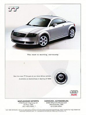 1999 2000 TT Coupe  -  Classic Advertisement Ad A49-B