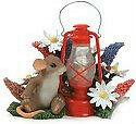 Charming Tails You Are My Shining Light 84137 Mouse Fitz Floyd Lantern NEW