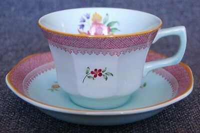 """LOVELY VINTAGE ADAMS CALYX WARE """"LOWESTOFT"""" CUP AND SAUCER"""
