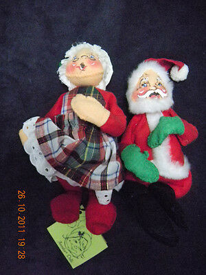 Annalee Mr and Mrs Santa Claus Excellent Condition 1983 (Tags Marked 1963)