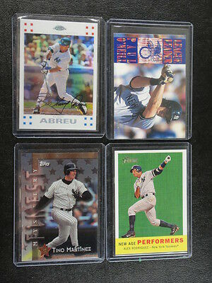 4 Card YANKEES Lot Featuring 2008 Topps Heritage Alex Rodriguez NAP7