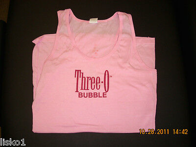 "Three Olives Vodka ""three-O-Bubble"" Pink T-Shirt Tank Top  (Size Large)"