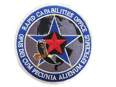 USAF BLACK OPS AREA 51 RAPID CAPABILITIES OFFICE DEPT OF DEFENSE AIR FORCE PATCH