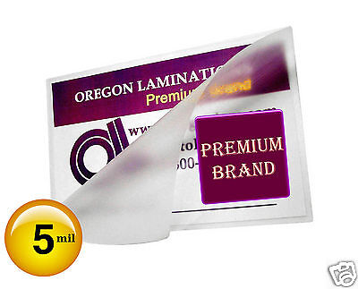 2500 File Card Hot 5 Mil Laminating Pouches 3-1/2 x 5-1/2 Clear 3.5x5.5