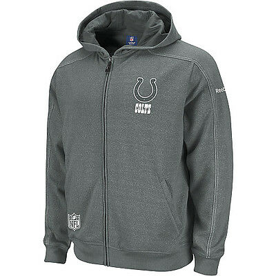 2011-12 Reebok Indianapolis Colts Sideline Static Storm Hooded L Sweatshirt  NWT d97dd341e