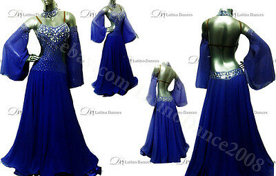 Ballroom/standard Competition Dress With High Quality Rhinestone St49