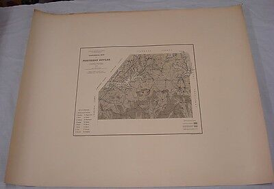 """1879 Large Map GEOLOGY OF NORTHERN BUTLER CO, PA/2nd PA Geological Survey/26x32"""""""
