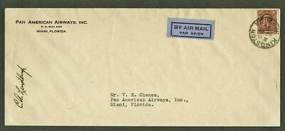 Lindbergh: Autographed Pan Am American Clipper cover from Jamaica, RR!