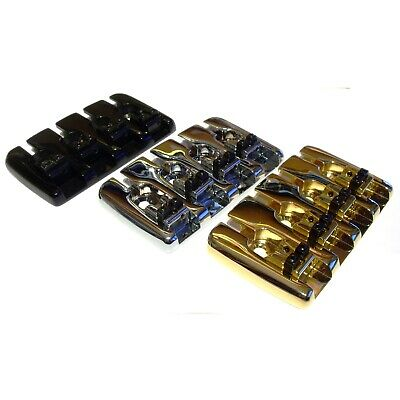 Quality 4 String bass guitar bridge chrome black or gold top load BB001 + screws
