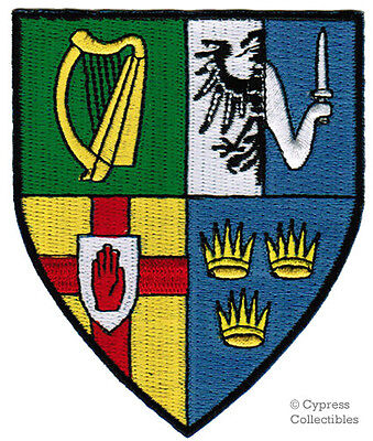 IRELAND IRISH iron-on PATCH COAT OF ARMS ULSER MUNSTER LEINSTER CONNACHT SHIELD