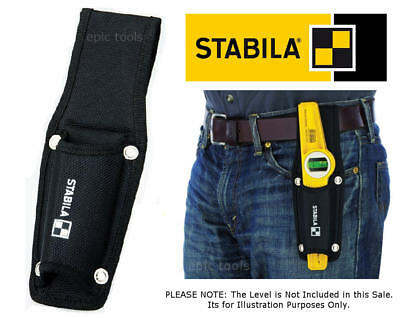 STABILA Black Nylon Scaffold Scaffolders Spirit Level Belt Holder Tool Pouch