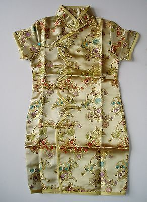 New Girls Golden Chinese/Oriental Dress 18-24 Months