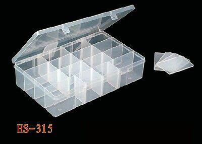 """CLEAR PLASTIC TACKLE BOXES (12.1/2"""" x 8.1/2"""" x 2"""") 8 Dividers FREE POST"""