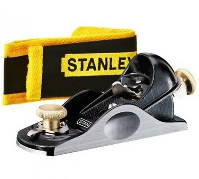 "STANLEY Bailey 6 1/4"" (160mm) Adjustable Block Plane 21° Angle + Pouch, 512020"