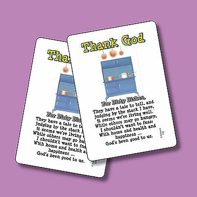 """Thank God For Dirty Dishes"" - Poem - 2 Verse Cards - SKU# 735"