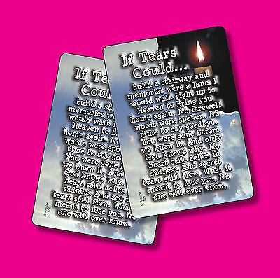 """If Tears Could Build A Stairway"" Poem - 2 Verse Cards - SKU# 526"
