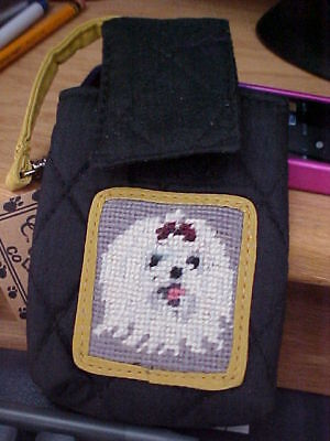 Maltese tapestry on quilted   cell phone case