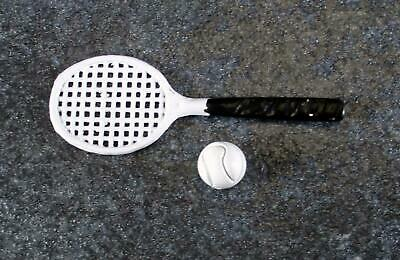 Dolls House Tennis Set 1:12 Scale Racket & Ball Miniature Games Accessory