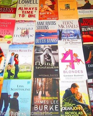 TRADE SIZE Softcover Mixed Lot of FICTION/ROMANCE - FREE SHIPPING