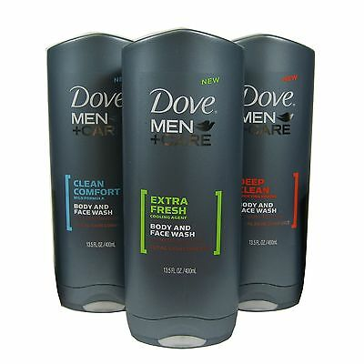 Dove Men + Care Face and Body Wash Variety  13.5oz  2 bottles