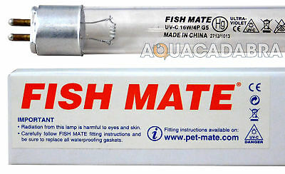 Genuine 16W Fishmate Fish Mate Uv Bulb/tube/lamp 16 Watt Uvc Pond Fish