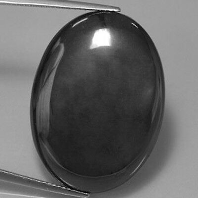 MasterpIece Collection: Bright Metallic Hematite Oval Cabochon (6x4-18x13mm)