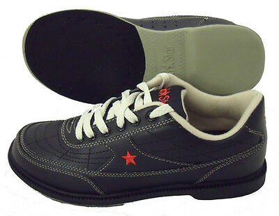 Red Star Black Tenpin Bowling Shoes - new - sizes 3 to 12