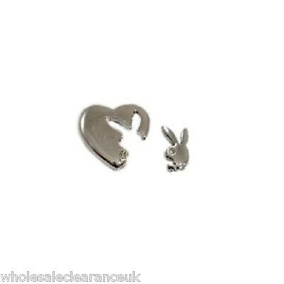 Wholesale Joblot Of 10 Designer Playboy Bunny Silhouette Earings Platinum