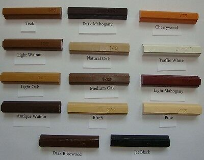 Konig Soft Wax Wood Filler Repair Softwax Stick - Many Colours