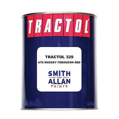 MF Massey Ferguson Red AT6 Tractol 329 Synthetic Tractor Enamel Paint 1 Litre 1L