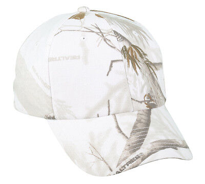 Realtree APS SNOW  Winter Camouflage Camo Hunting Hat Adjusatble Tape Closure