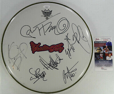 Signed Jane's Perry Ferrell Satellite Party Drumhead W/pics