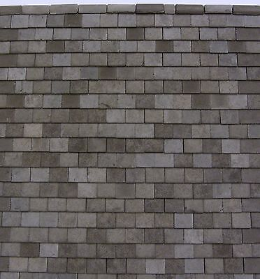 1,000  MINACO MINIATURE (1/24th) SLATE GREY ROOF TILES  only £28.99!