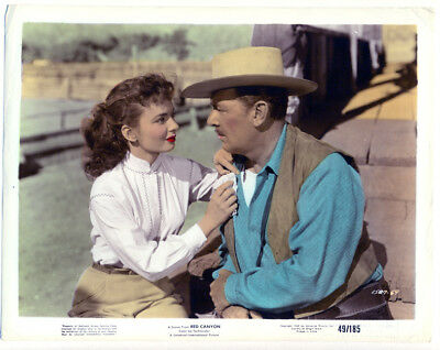 ANN BLYTH, GEORGE BRENT color movie photo 1949 RED CANYON