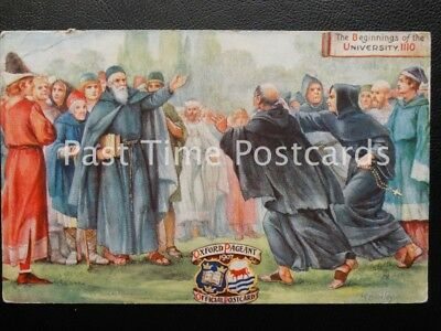 c1907 Tucks - Oxford Pageant - The Beginnings of the University 1110