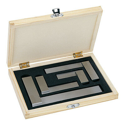 "Engineers 4 Piece Set 2"" 3"" 4"" 6"" Precision Engineering Squares"