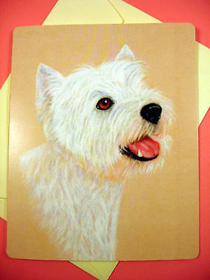 West Highland Terrier Greeting Card - Blank Note Card - sku 043