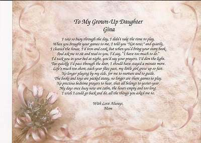 Personalized Poem For Daughter Choose Art Birthday Christmas Inspiration