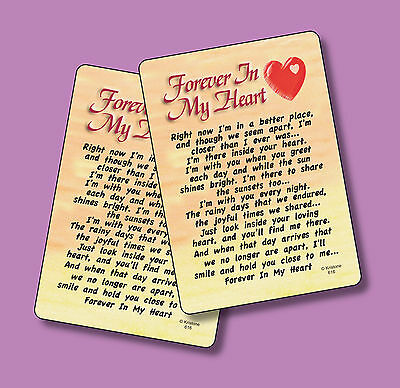 """Forever In My Heart"" Poem - 2 Verse Cards - SKU# 616"