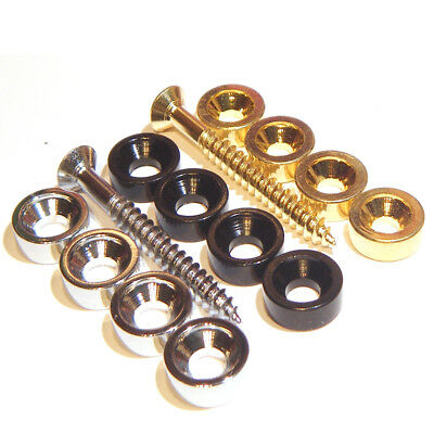 "Guitar neck joint bush's in chrome black or gold ""plate bushing ferrules washer"""