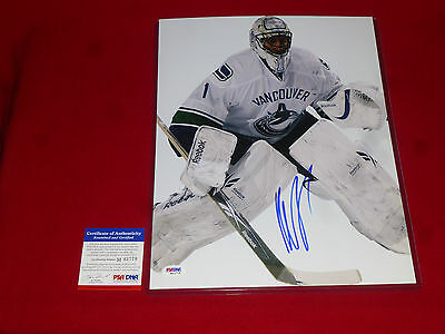 ROBERTO LUONGO canada vancouver canucks PSA/DNA signed 11X14 proof