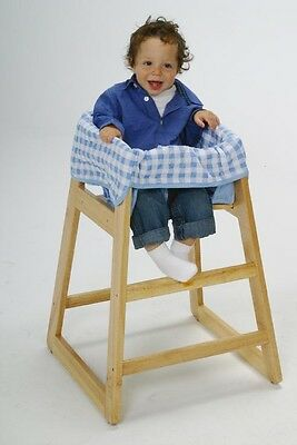 Blue Checkered Clean Diner High Chair Cover for Baby - New - Free Shipping!