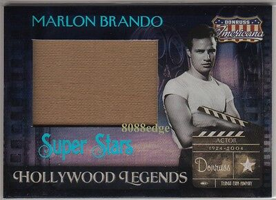 "2007 Americana Jumbo Worn Swatch: Marlon Brando #18/25""godfather/apocalypse Now"""
