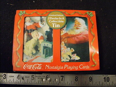 Coke Limited Edition Playing Cards Set & Tin 1996, unop