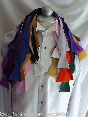 Any > Self-tied Bow tie with OR without Hankie + Instructions >P&P 2UK>1st Class